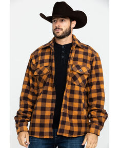 Outback Trading Co. Men's Big Flannel Shirt , Brown, hi-res