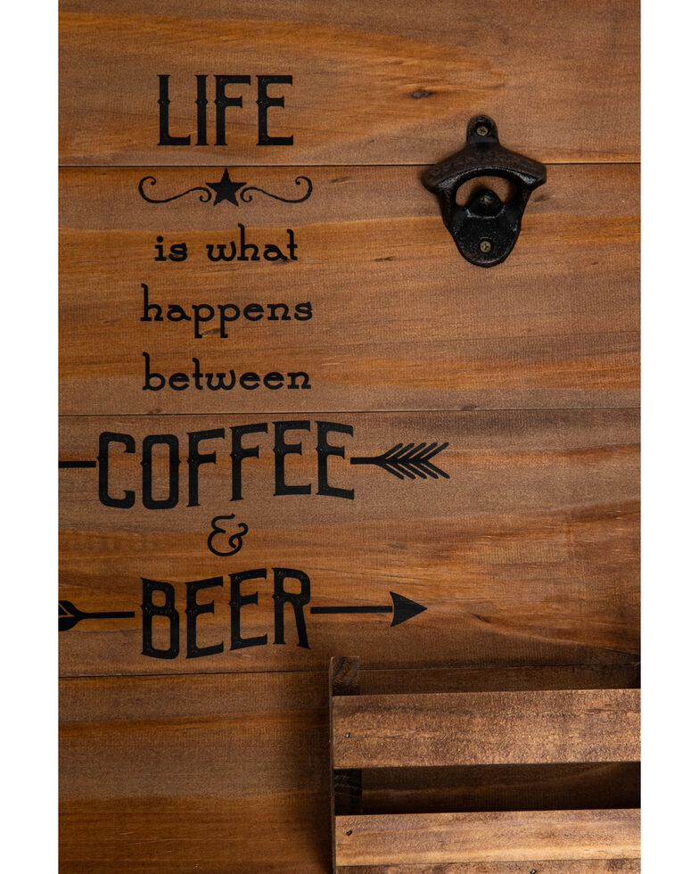 BB Ranch Coffee & Beer Wall Storage, Brown, hi-res