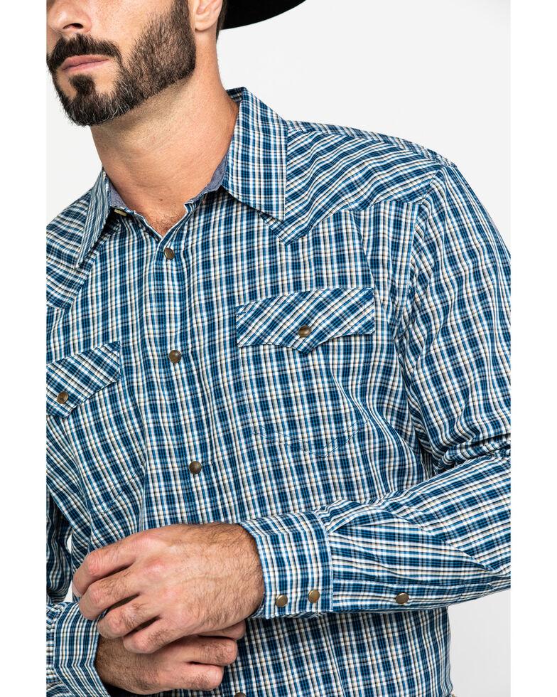 Cody James Men's Harvest Check Plaid Long Sleeve Western Shirt - Big & Tall , Blue, hi-res