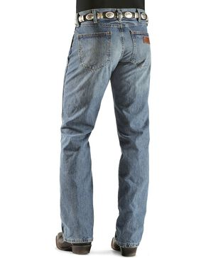 "Wrangler Jeans - Premium Patch Slim 77 - 38"" Tall Inseam, Worn Denim, hi-res"