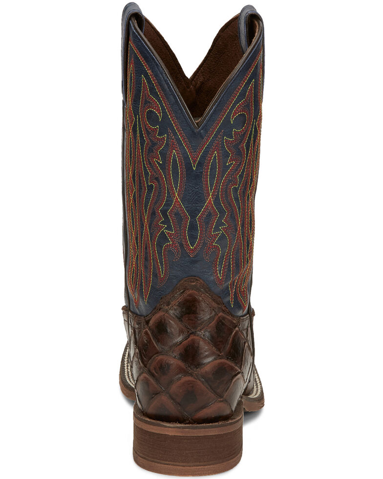Nocona Men's Turner Chocolate Western Boots - Wide Square Toe, Brown, hi-res