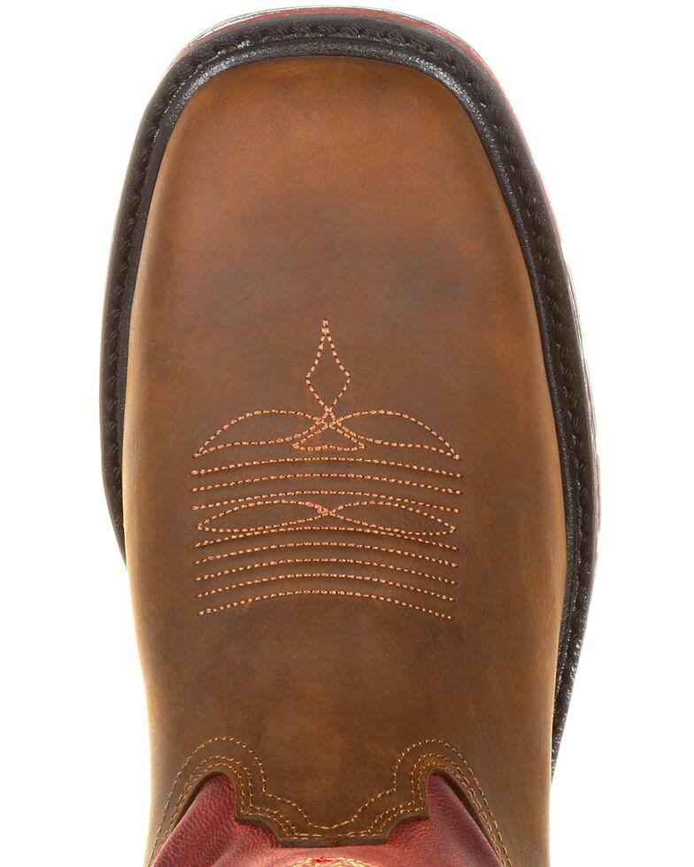 Georgia Boot Men's Carbo-Tec LT Waterproof Western Work Boots - Square Toe, Brown, hi-res