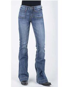 Stetson Women's 921 High Waist Flare Jeans , Blue, hi-res