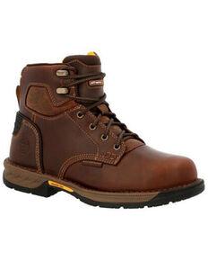 Georgia Boot Men's Athens 360 Waterproof Work Boots - Soft Toe, Brown, hi-res