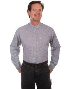 Scully RangeWear Men's Multi Geo Print Long Sleeve Western Shirt , Black, hi-res