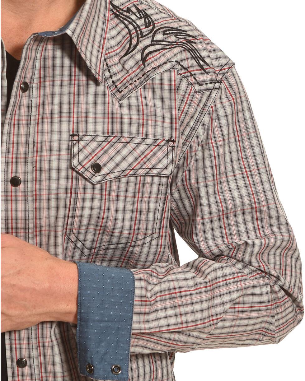 Moonshine Spirit Tribal Embroidered Western Long Sleeve Shirt, Red, hi-res