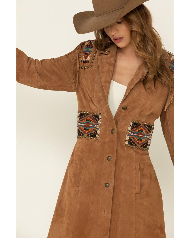 Double D Ranch Women's Tan Plainsman Suede Jacket , Tan, hi-res
