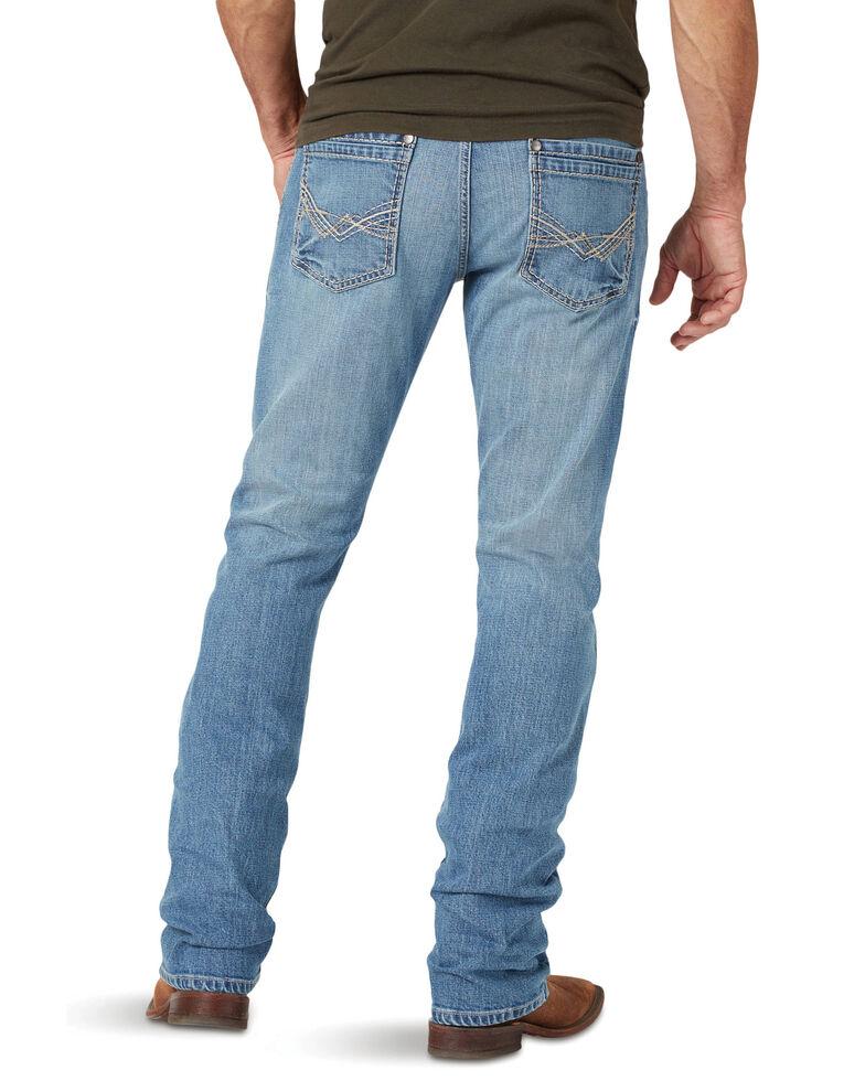 Rock 47 By Wrangler Men's Talk Box Light Stretch Slim Straight Jeans , Blue, hi-res