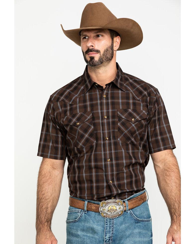 Pendleton Men's Frontier Short Sleeve Shirt , Brown, hi-res
