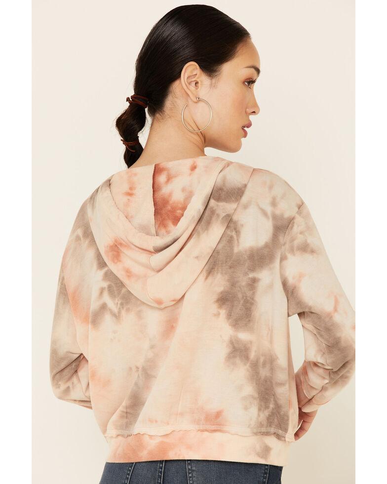 Lunachix Women's Blushed Tie-Dye Zip Hoodie, Blush, hi-res