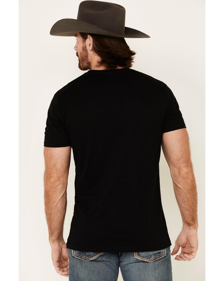 Cody James Men's Black Mexico Eagle Graphic T-Shirt , Black, hi-res