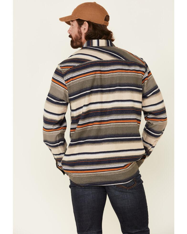 North River Men's Oatmeal Lake Striped Long Sleeve Western Flannel Shirt , Oatmeal, hi-res