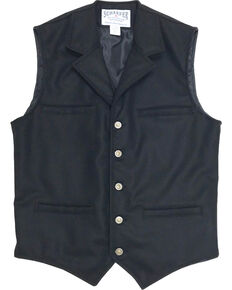 Schaefer Outfitter Men's 704 McCoy Wool Vest - XLT, Black, hi-res
