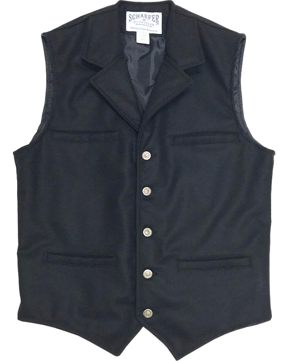 Schaefer Outfitter Men's 704 McCoy Wool Vest - XLT, Black, hi-res