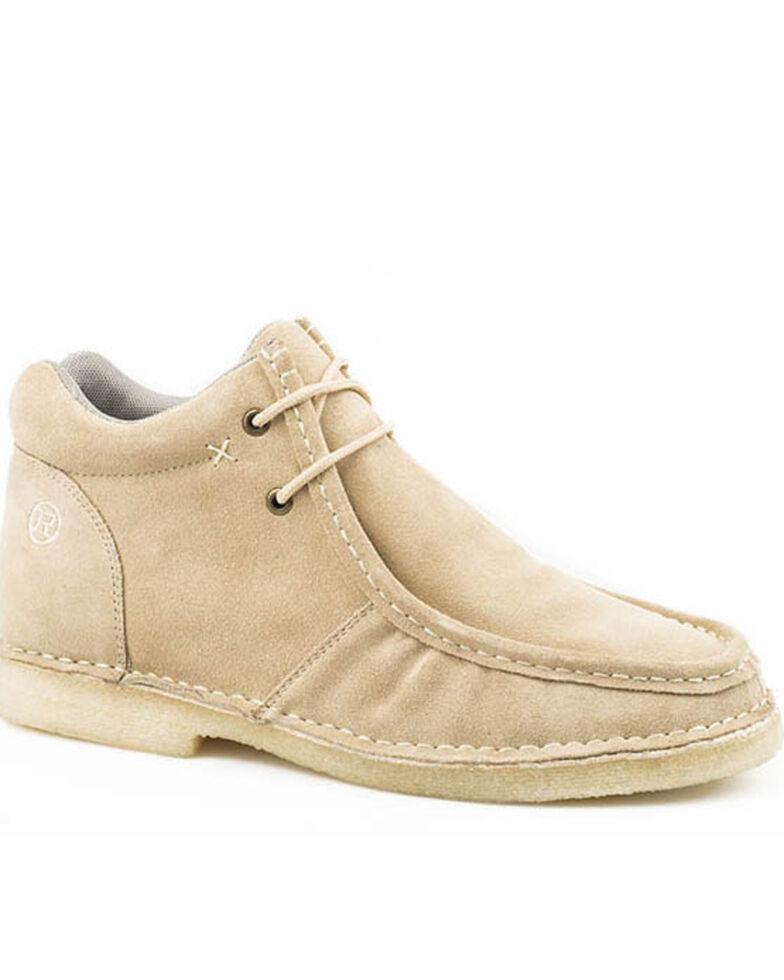 Roper Men's Arnold Lace-up Boots - Moc Toe, Tan, hi-res