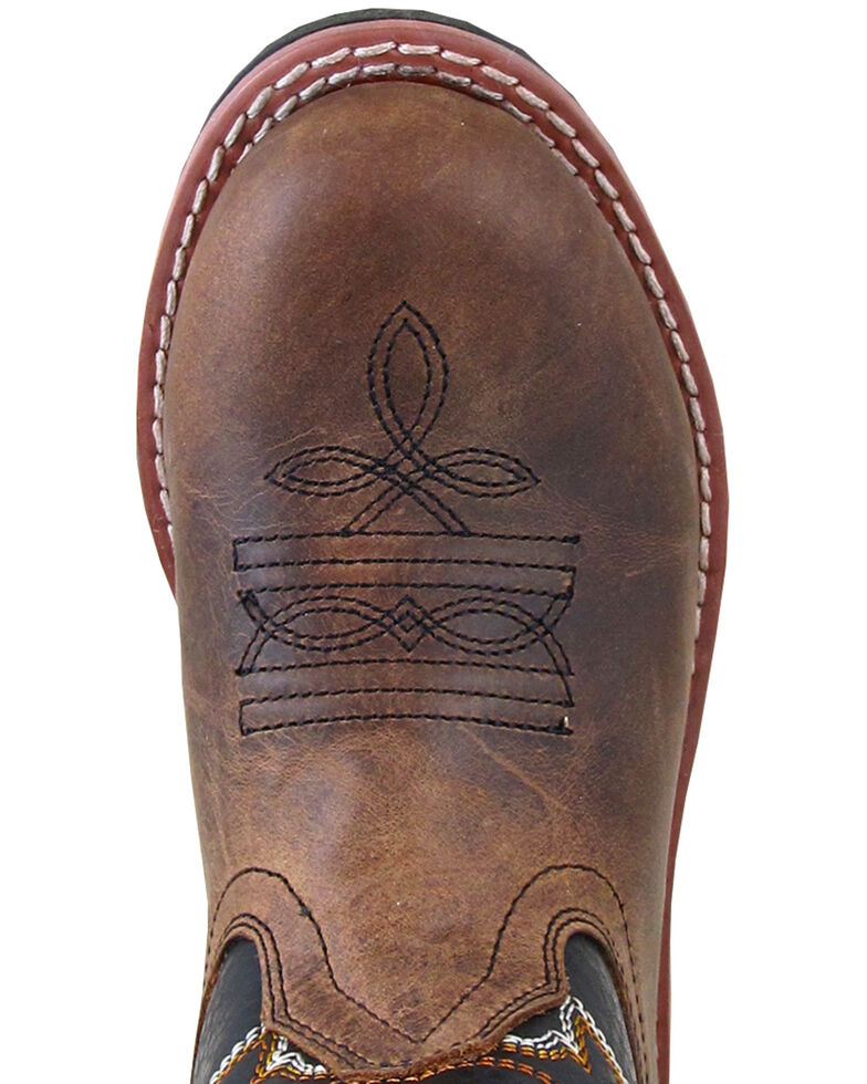 Smoky Mountian Boys' Buffalo Western Boots - Round Toe, Brown, hi-res