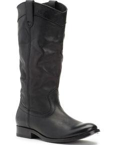 Frye Women's Black Melissa Pull On Boots - Round Toe , Black, hi-res