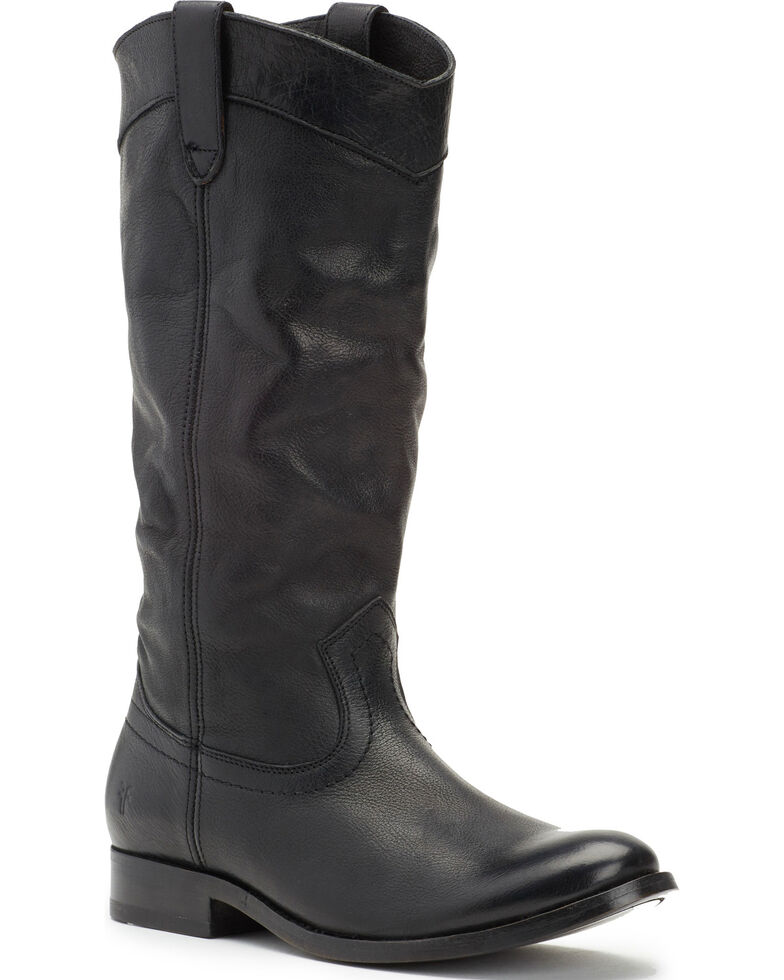 Frye Women's Black Melissa Pull On Boots - Round Toe , Black, hi-res
