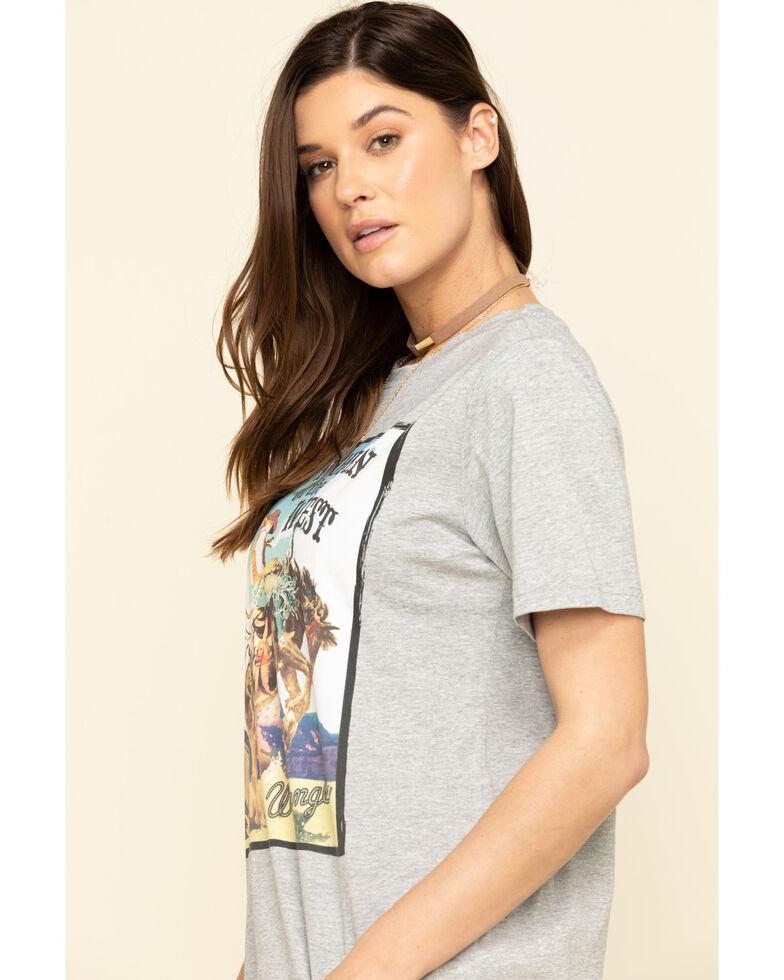 Wrangler Women's Grey Wild West Graphic Tee, Grey, hi-res