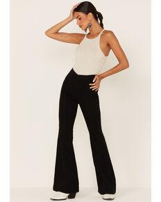 Cello Women's Black Righ Rise Pull-On Super Flare Jeans, Black, hi-res