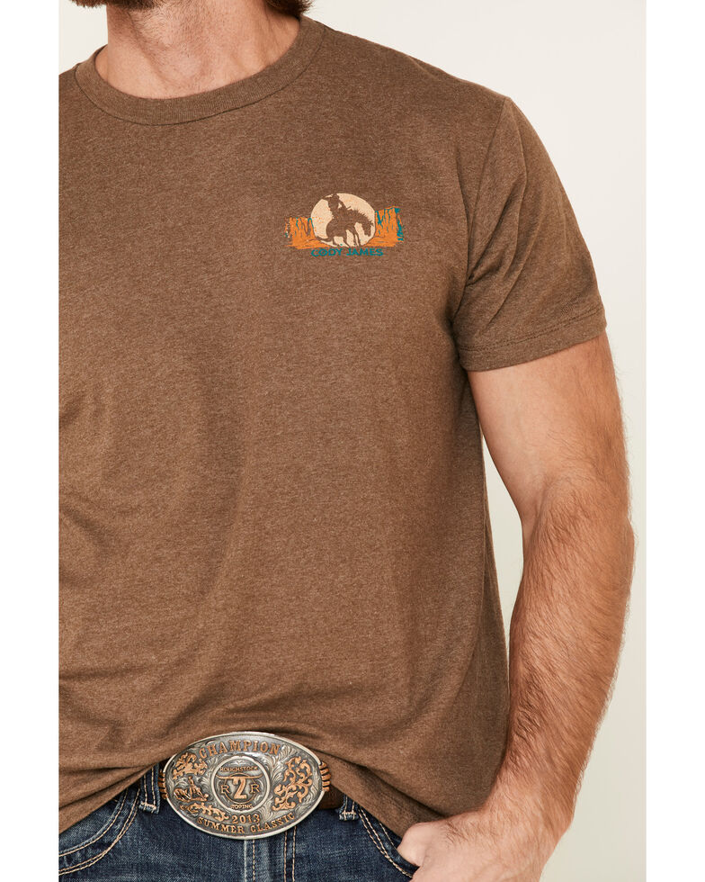 Cody James Men's American Rodeo Graphic Short Sleeve T-Shirt , Brown, hi-res