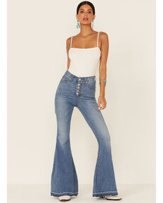 Free People Women's Flare Jeans, Blue, hi-res