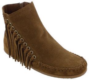 Minnetonka Women's Willow Boots, Dusty Brn, hi-res