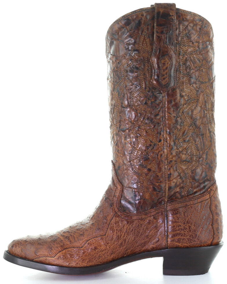 Corral Men's Exotic Ostrich Western Boots - Round Toe, Cognac, hi-res