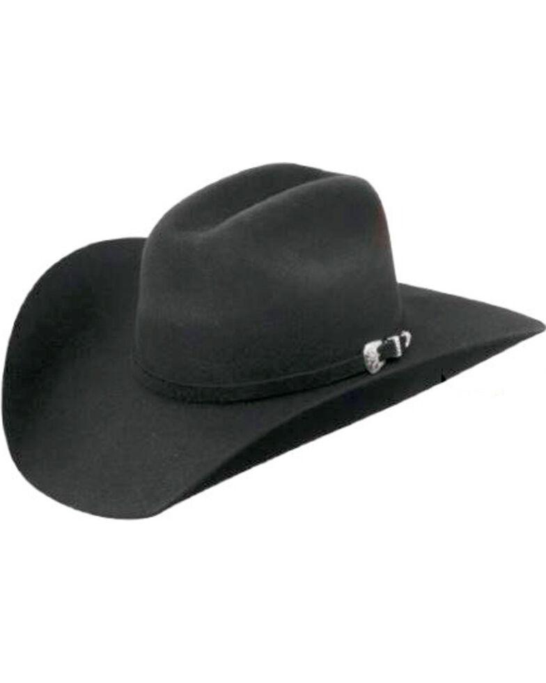 Master Hatters Men's Black Conroe 7X Wool Felt Cowboy Hat, Black, hi-res