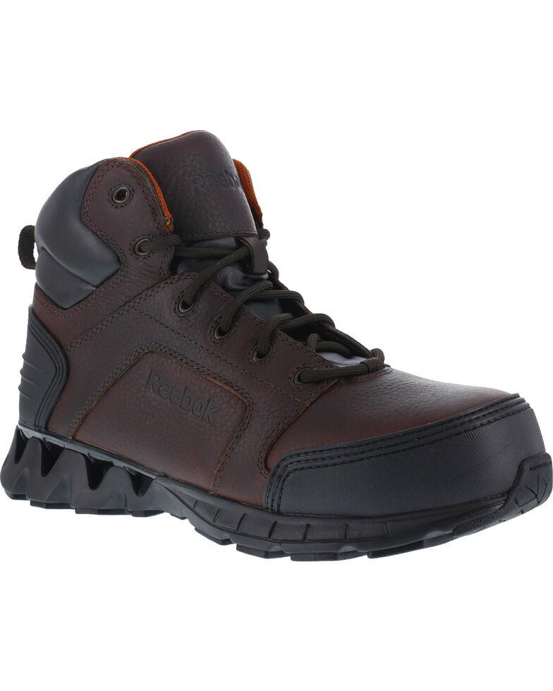 "Reebok Men's Athletic 6"" Boots - Composite Toe, Brown, hi-res"