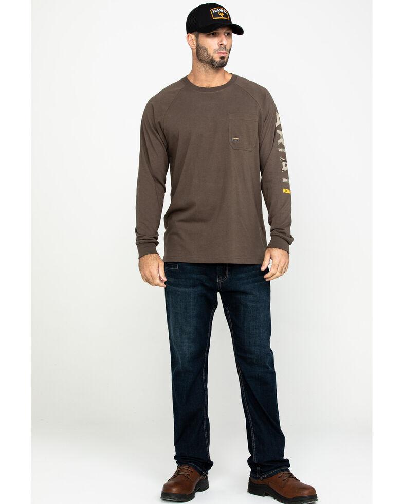 Ariat Men's Moss Green Rebar Cotton Strong Long Sleeve Work Shirt - Big & Tall , Moss Green, hi-res
