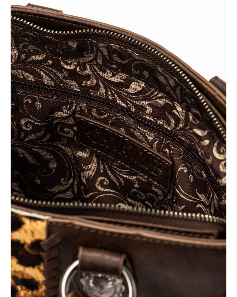 Shyanne Women's Leopard Fringe Tote Bag, Leopard, hi-res