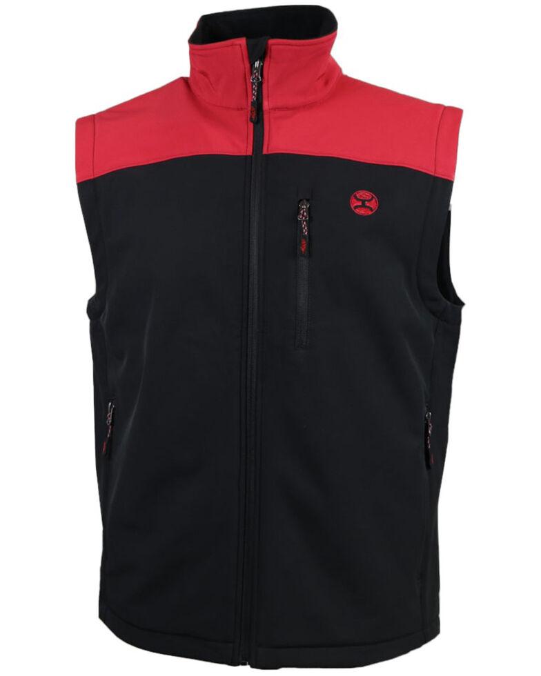 HOOey Men's Grey Colorbock Zip-Front Softshell Vest , Grey, hi-res