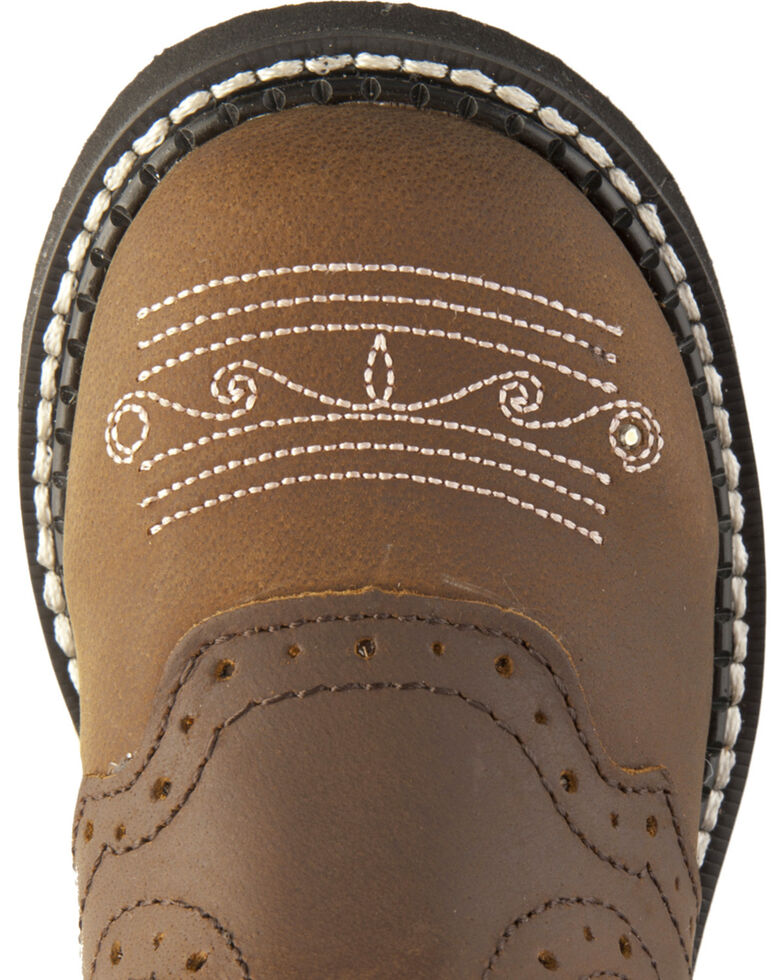 Justin Youth Gypsy Light Up Cross Embroidered Cowgirl Boots, Bay Apache, hi-res