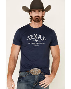 Wrangler Men's Blue Texas Rooted Graphic T-Shirt , Blue, hi-res