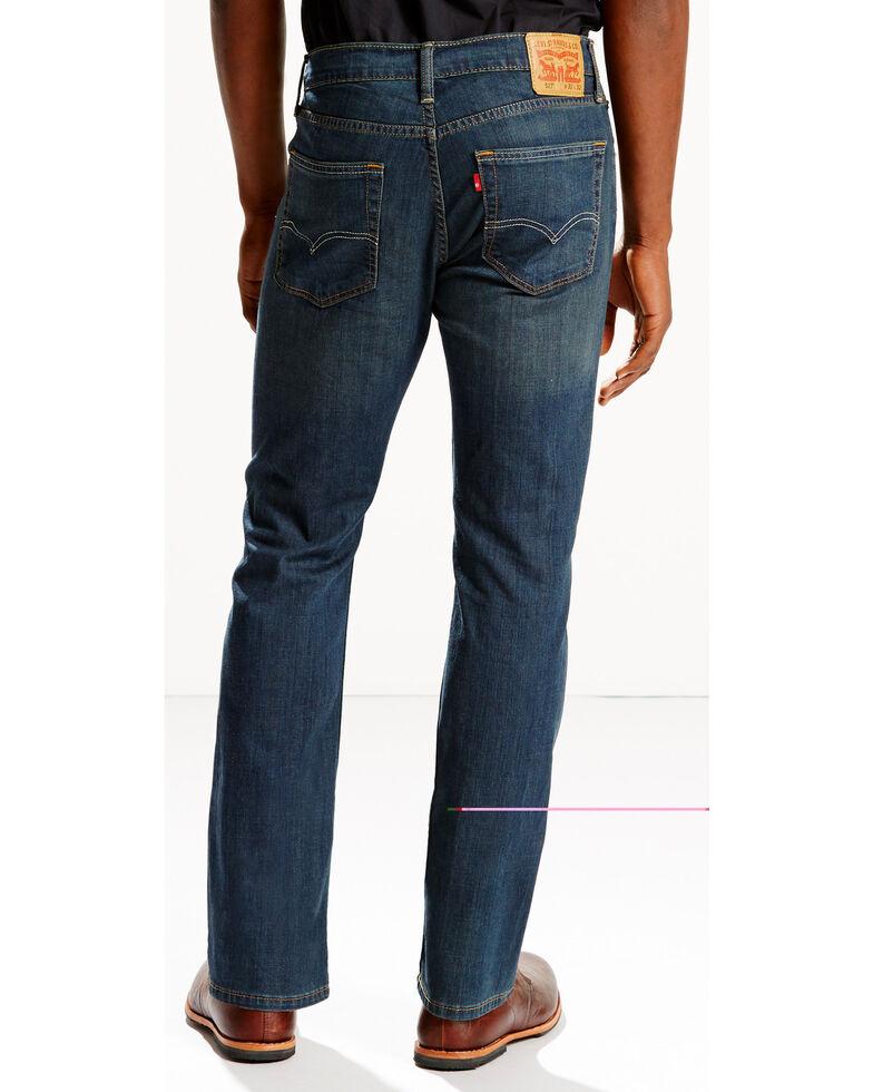 Levi's Men's 527 Low Rise Zip Fly Stretch Bootcut Jeans, Indigo, hi-res