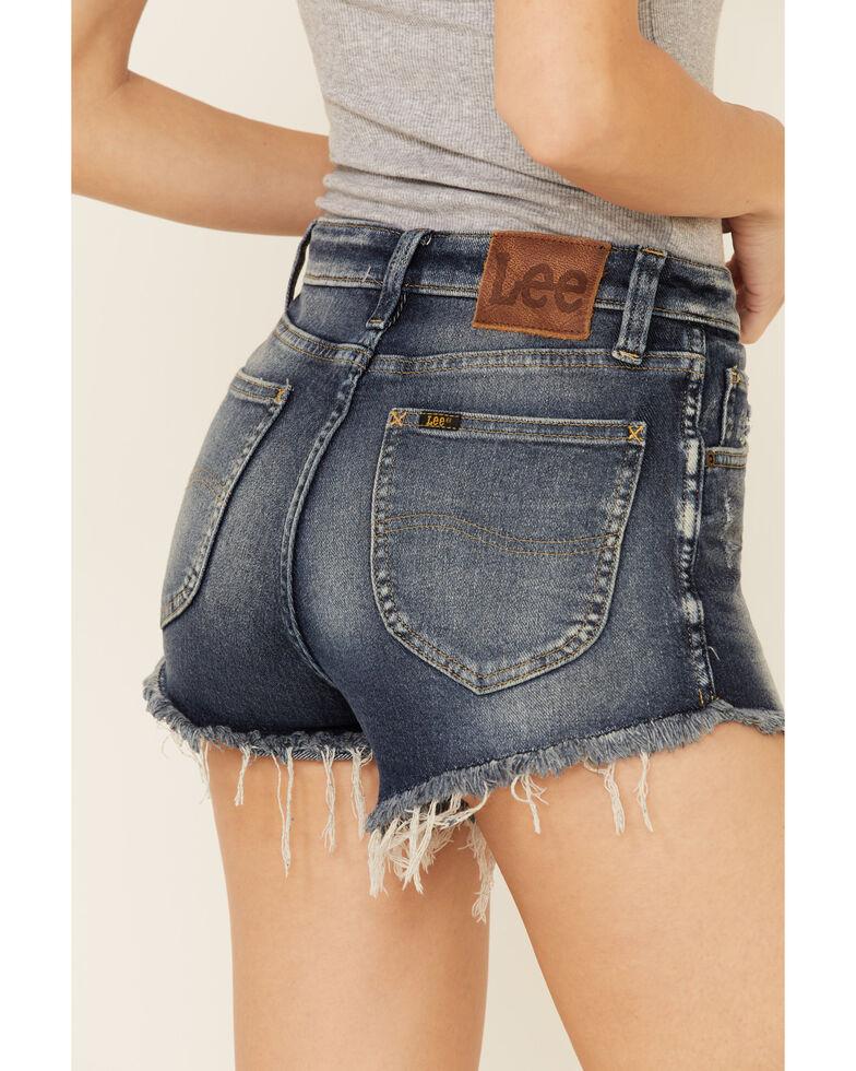 Lee Women's Vintage Dark Wash Cut-Off Shorts, Blue, hi-res