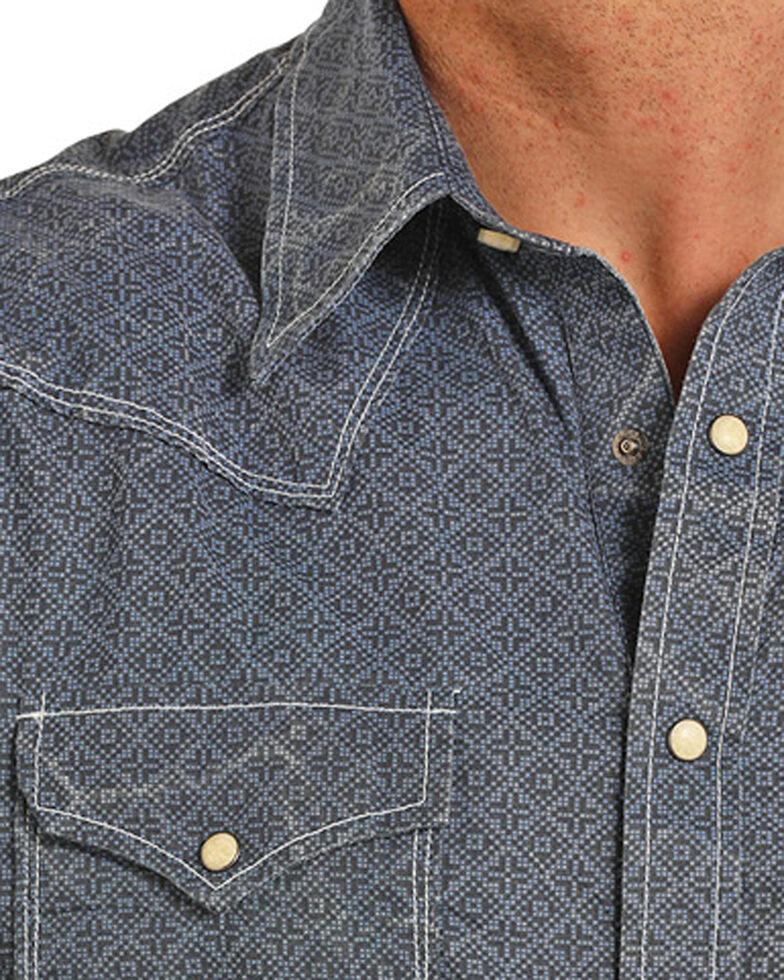 Rock & Roll Cowboy Men's Snow Washed Shirt , Indigo, hi-res