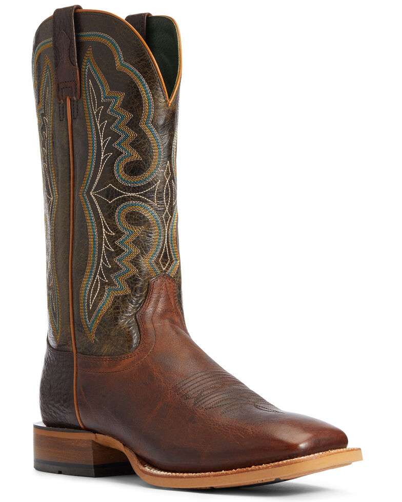 Ariat Men's Chartbuster Western Boots - Wide Square Toe, Brown, hi-res