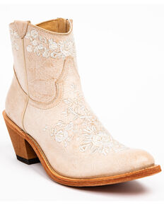 Shyanne Women's Nairobi Hueso Fashion Booties - Round Toe, Ivory, hi-res