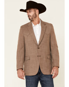 Circle S Men's Acorn Brown Ft. Worth Button-Front Sportcoat - Big , Brown, hi-res