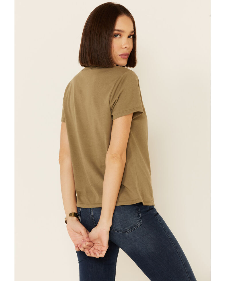 Cut & Paste Women's Haven't Been Everywhere Graphic Short Sleeve Tee , Olive, hi-res