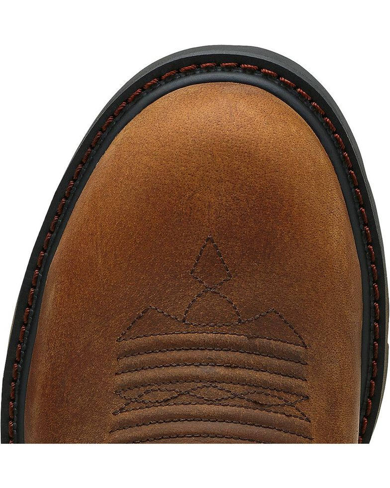 Ariat Men's Groundbreaker Pull-On Work Boots - Steel Toe, Brown, hi-res