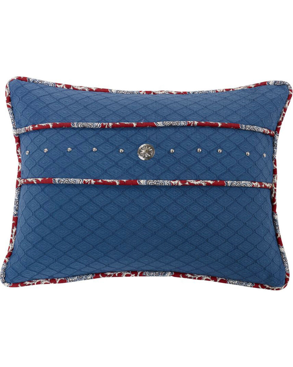 HiEnd Accents Bandera Studded Concho Accent Pillow, Blue, hi-res