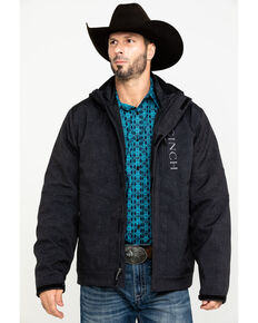 Cinch Men's Charcoal 3-In-1 Printed Bonded Jacket , Charcoal, hi-res
