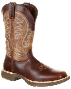 Durango Men's Ultralite Waterproof Western Boots - Square Toe, Dark Brown, hi-res