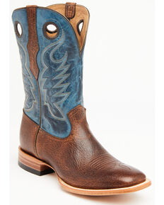Cody James Men's Searcy Western Boots - Wide Square Toe, Blue, hi-res