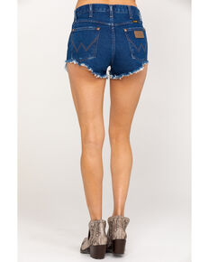 Wrangler Women's Modern Dark Wash Heritage Shorts, Blue, hi-res