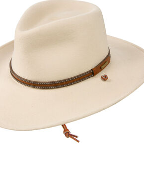 Stetson Men's Lawton Crushable Wool Western Hat , Silver Belly, hi-res