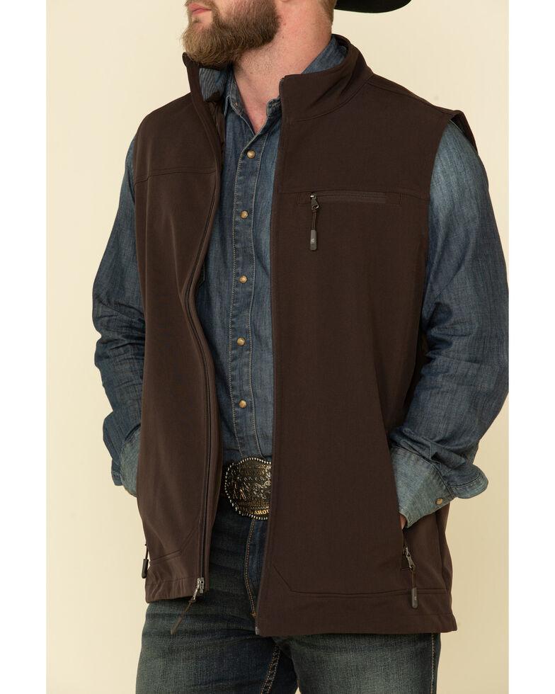 Cody James Core Men's Brown Wrightwood Zip Front Vest , Brown, hi-res